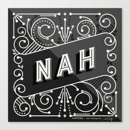 Nah – Black & Grey Palette Canvas Print