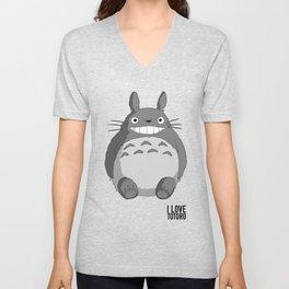 I Love Totoro Unisex V-Neck