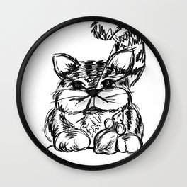Unlikely Friends :: Cat & Mouse Wall Clock