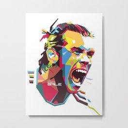 Gareth Bale WPAP 3 Metal Print
