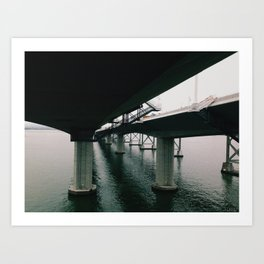 the new bay bridge - 2013 Art Print