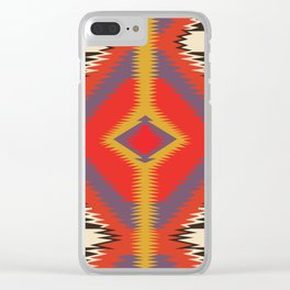 American Native Pattern No. 87 Clear iPhone Case