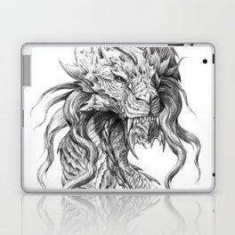 Dark Side Japanese Dragon portrait   Graphite Pencil art Laptop & iPad Skin