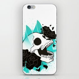 Skull 'n' Roses (ScribbleNetty-Colored) iPhone Skin