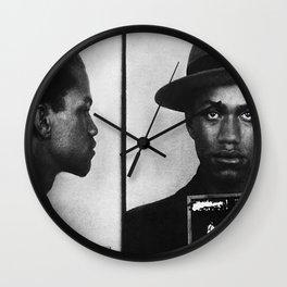 Malcolm X Mugshot Wall Clock