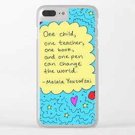 Malala Clear iPhone Case
