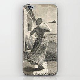 Winslow Homer - The Dinner Horn, 1870 iPhone Skin