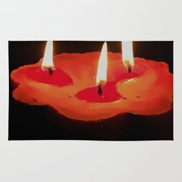 Light a Three Way Candle Rug