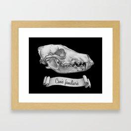 Dog Skull in Ink Framed Art Print