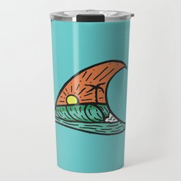 Wave in a Wave - Teal Travel Mug