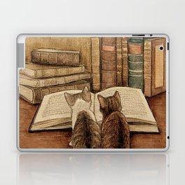 Kittens Reading A Book Laptop & iPad Skin