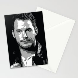 Chris Pratt Poster Stationery Cards
