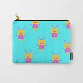 Happiest Little Robot (blue) Carry-All Pouch