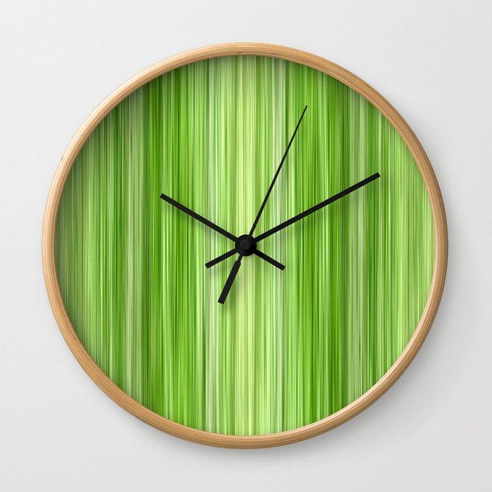 Green 3 Wall Clock