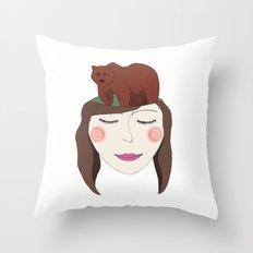 Bear in Mind Throw Pillow