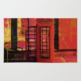 UK Red Phone Box - London England Rug
