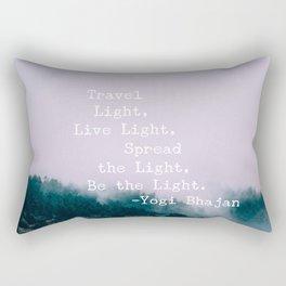 Travel Quote by Yogi Bhajan Rectangular Pillow