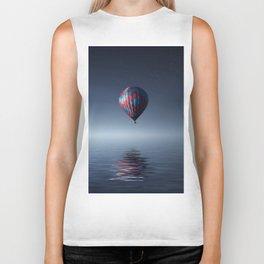 Hot Air Balloon Reflection Biker Tank