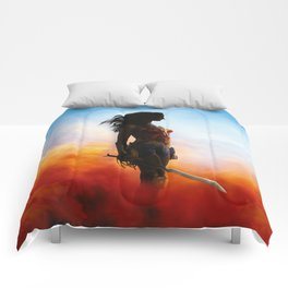 fighter woman Comforters