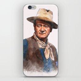 John Wayne - The Duke - Watercolor iPhone Skin