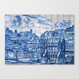 Lisbon portugal Azulejo Tile art Canvas Print