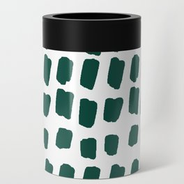 Green Abstract Paint Splotches Can Cooler