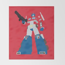 Transformers G1 - Optimus Prime Throw Blanket
