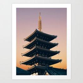 Five-Storied Pagoda at Sensoji Fine Art Print Art Print