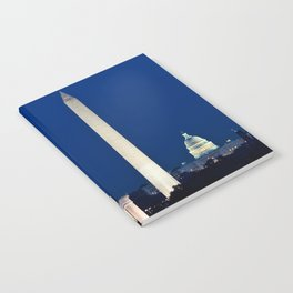 Harvest Moon rising over Washington DC Notebook