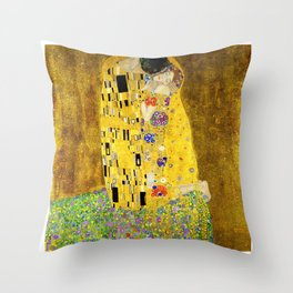 The Kiss by Klimt Throw Pillow