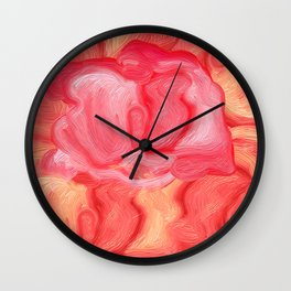 Red Rose Rebel Wall Clock
