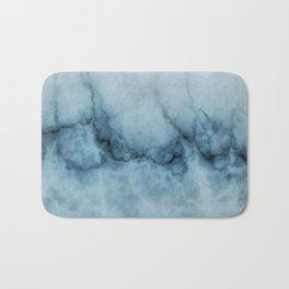 Blue marble abstraction Bath Mat