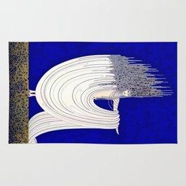 """North Sea"" Art Deco Design Rug"