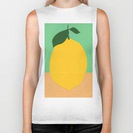 Lemon With Two Leaves Biker Tank
