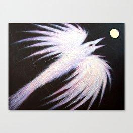 Ice Raven Canvas Print