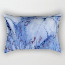 Blue marble Rectangular Pillow