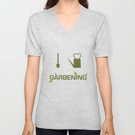 I heart Gardening Unisex V-Neck