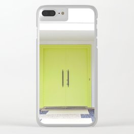 Lime Door Palm Springs Clear iPhone Case
