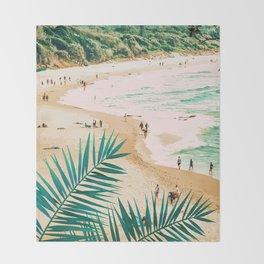 Beach Weekend #digitalart #nature Throw Blanket
