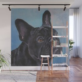 french bulldog dog portrait art from an original painting by L.A.Shepard Wall Mural