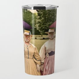 Two Pretty Kitties: Out for a Stroll Travel Mug