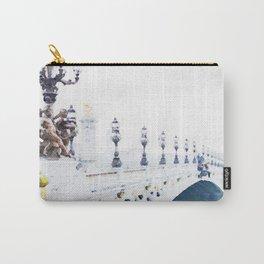 Pont Alexandre III Paris Bridge Watercolor Carry-All Pouch