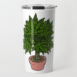 Blushing Cannabis Travel Mug