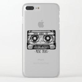 Where Words Fail, Music Speaks Clear iPhone Case