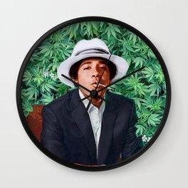 obama portrait smoke Wall Clock