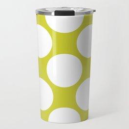 Polka Dots Green Travel Mug