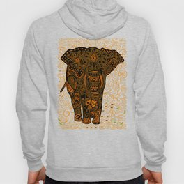 Aztec Elephant With Floral Pattern Hoody