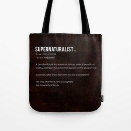 Supernaturalist Tote Bag