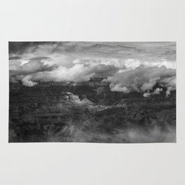 Canyon in Clouds bw Rug