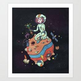 Planet nostalgia Art Print